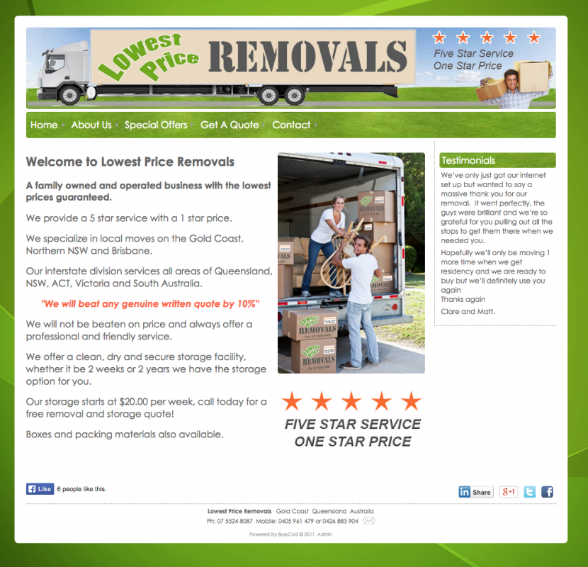 <p>Lowest Price Removals</p> &lt;p&gt; &lt;a href=&quot;http://www.lowestpriceremovals.com/&quot; target=&quot;_blank&quot;&gt;Go To Website&lt;/a&gt; &lt;/p&gt;