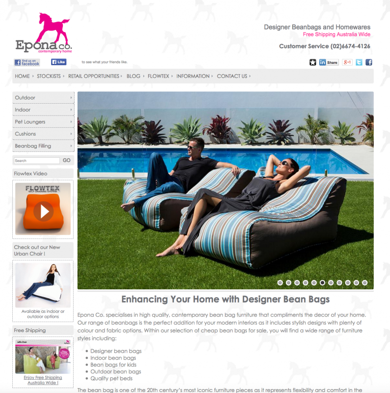 "<p> <a href=""http://www.eponabeanbags.com"" target=""_blank"">Go to Eponaco Beanbags</a> </p>"